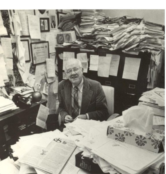 Magoon's Office, crammed with files